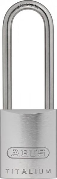 ABUS Vorhangschloss 86TIIB45HB80 TITALIUM™ ohne Zylinder mit INOX Bügel