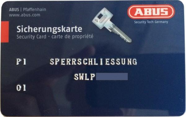 ABUS Wavy Line Pro Knaufzylinder Sperrschließung nach Code