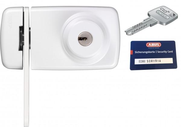 ABUS 7035 (EK) mit EC660 Zylinder Tür-Zusatzschloss mit Sperrbügel und Sicherungskarte