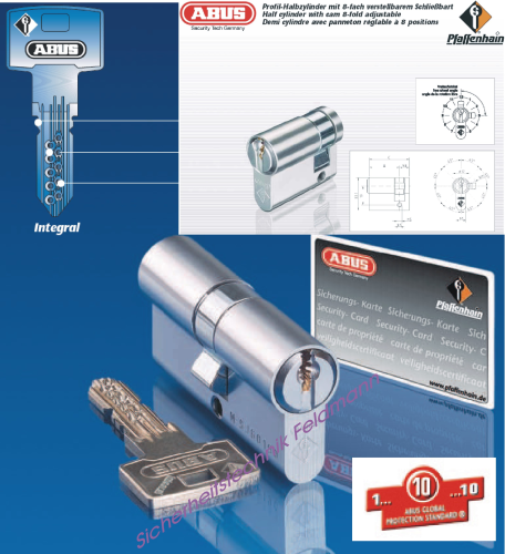 ABUS Integral J5 Halbzylinder
