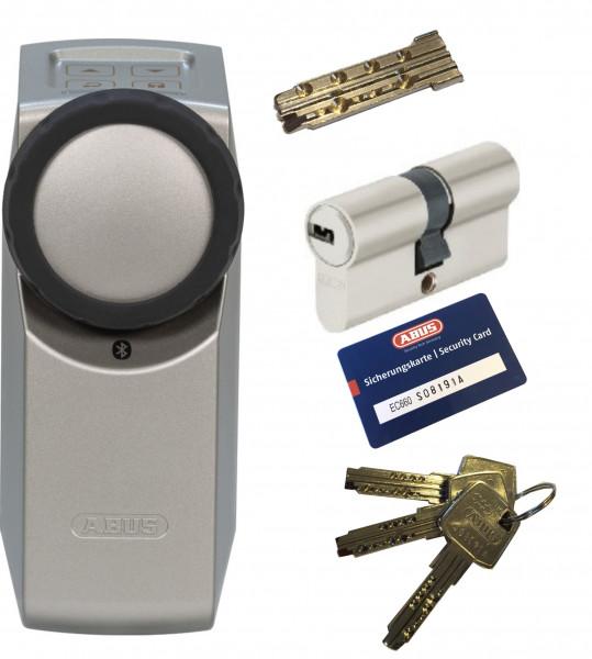 ABUS Bluetooth® HomeTec Pro CFA3100 silber + EC660 Doppelzylinder, 3 Schlüssel + 1 Antriebsschlüssel