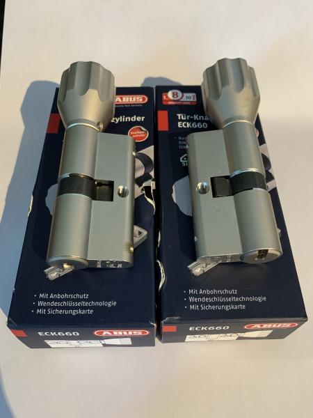 ABUS ECK660 Z30/K30mm + Z30/K30 gleichschliessend mit 6 Schlüssel, #SALE 266