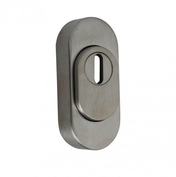KBV Zieh-Schutzrosette Edelstahl oval