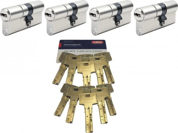 ABUS Bravus3000 MX 4er Set gl. Doppelzylinder