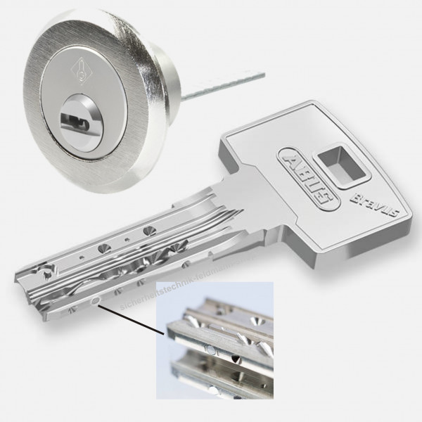 ABUS Bravus 3500 MX Magnet Aussenzylinder rund D=28mm für Kastenschlösser