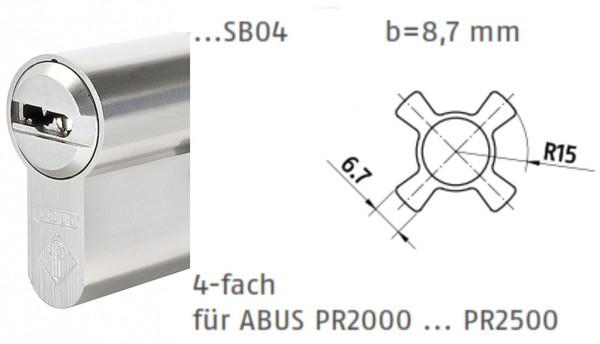 ABUS Bravus Doppelzylinder für ABUS Panzerriegel PR2000 PR2500