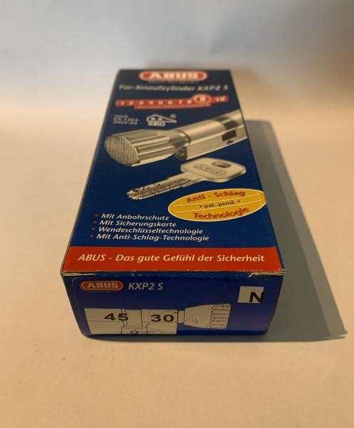ABUS KXP2S Z45/K30mm mit 3 Schlüssel, Einzelschließend #SALE 27
