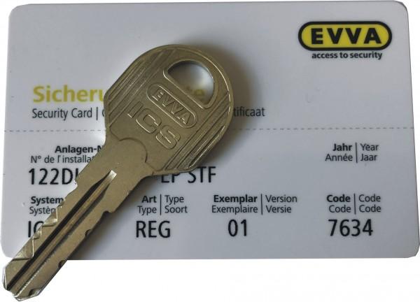 EVVA ICS STF-Nachschlüssel