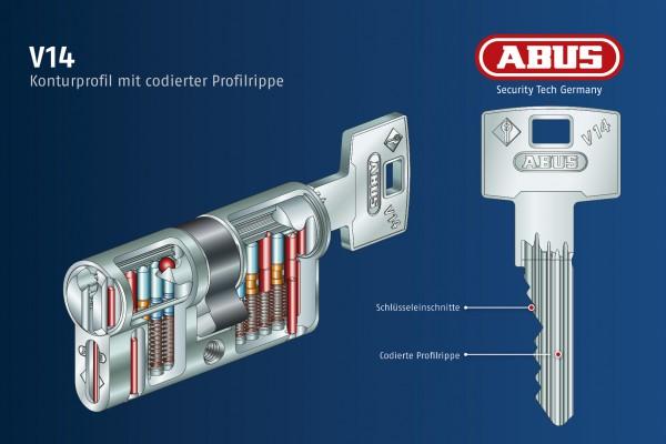 ABUS V14 5 Halbzylinder