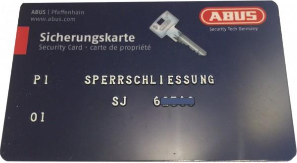 ABUS Integral J6 Aussenzylinder rund D=28mm zu Sperrschließung SJ6