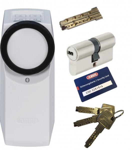 ABUS Bluetooth® HomeTec Pro CFA3100 weiß + EC660 Doppelzylinder, 3 Schlüssel + 1 Antriebsschlüssel