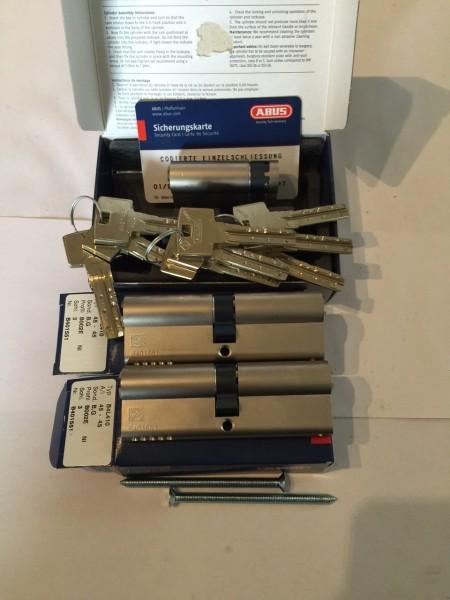 ABUS Bravus4000 3er Set 2x 45/45mm und 45/10mm, gleichschliessend mit 9 Schlüssel Sale