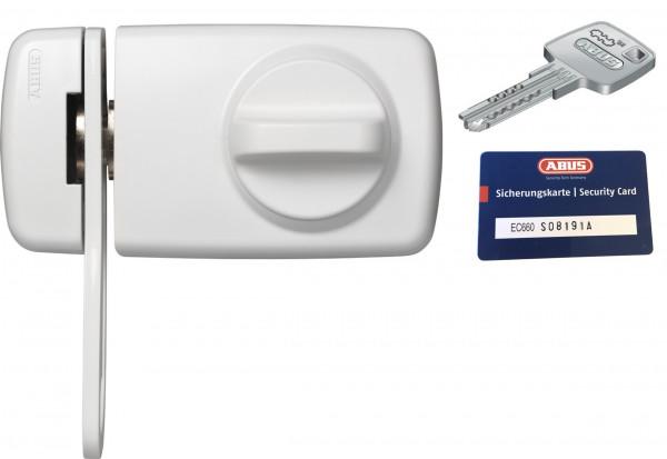 ABUS 7030 (EK) mit EC660 Zylinder Tür-Zusatzschloss, mit Sicherungskarte