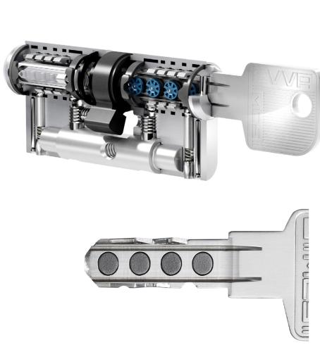 EVVA MCS Doppelzylinder - mit BSZ (N+G) Express