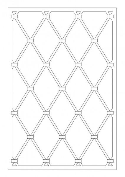Stahl-Fenstergitter Muster B2