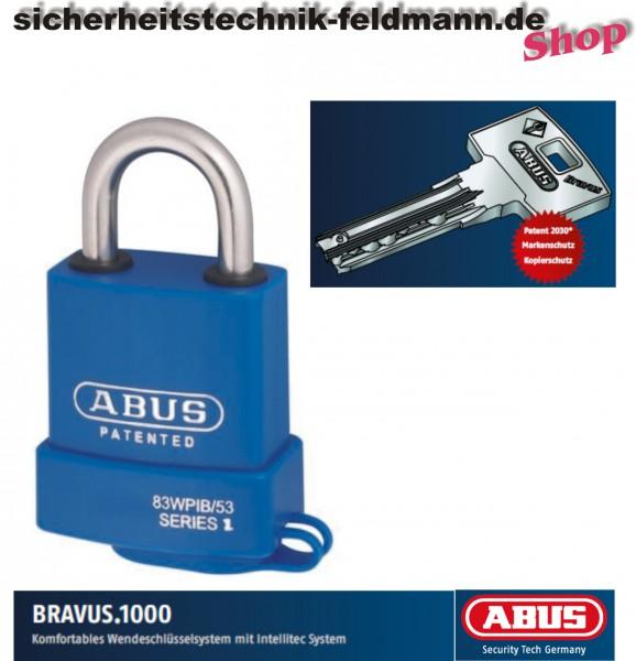 ABUS Bravus1000 Vorhängeschloss 83WPIB/53 nach Code Water Protected – Edelstahlbügel