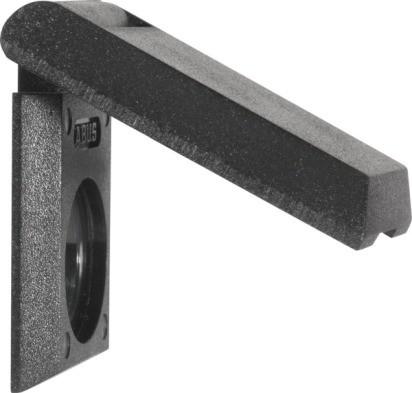 Abdeckdeckung für Türspion 2200 Plastik schwarz (Zubehör)